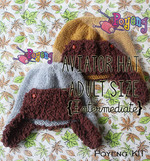 KIT Reguler: Aviator Hat Size Dewasa Knitting Kit